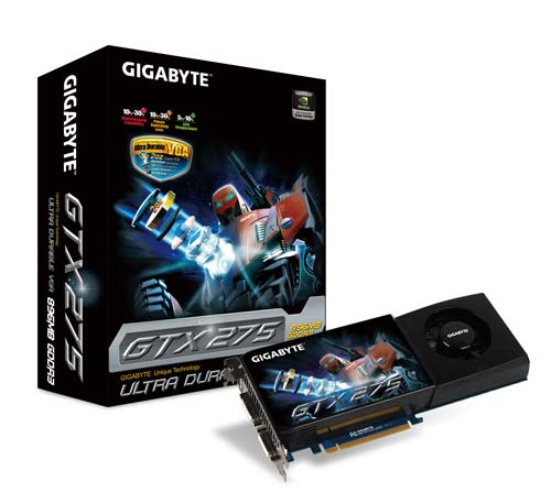Media asset in full size related to 3dfxzone.it news item entitled as follows: Gigabyte lancia una GeForce GTX 275 con Ultra Durable VGA | Image Name: news10282_1.jpg