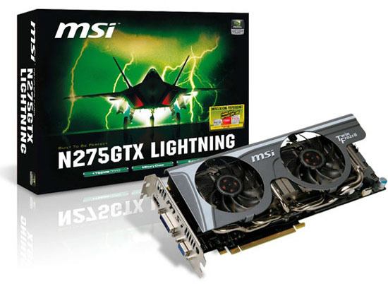 Media asset in full size related to 3dfxzone.it news item entitled as follows: 3D & Overclocking: MSI lancia la video card N275GTX Lightning   Image Name: news11215_1.jpg