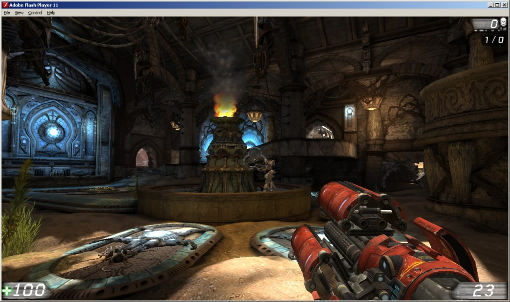 Media asset in full size related to 3dfxzone.it news item entitled as follows: Epic mostra Unreal Tournament 3 eseguito su Adobe Flash Player | Image Name: news15824_1.jpg