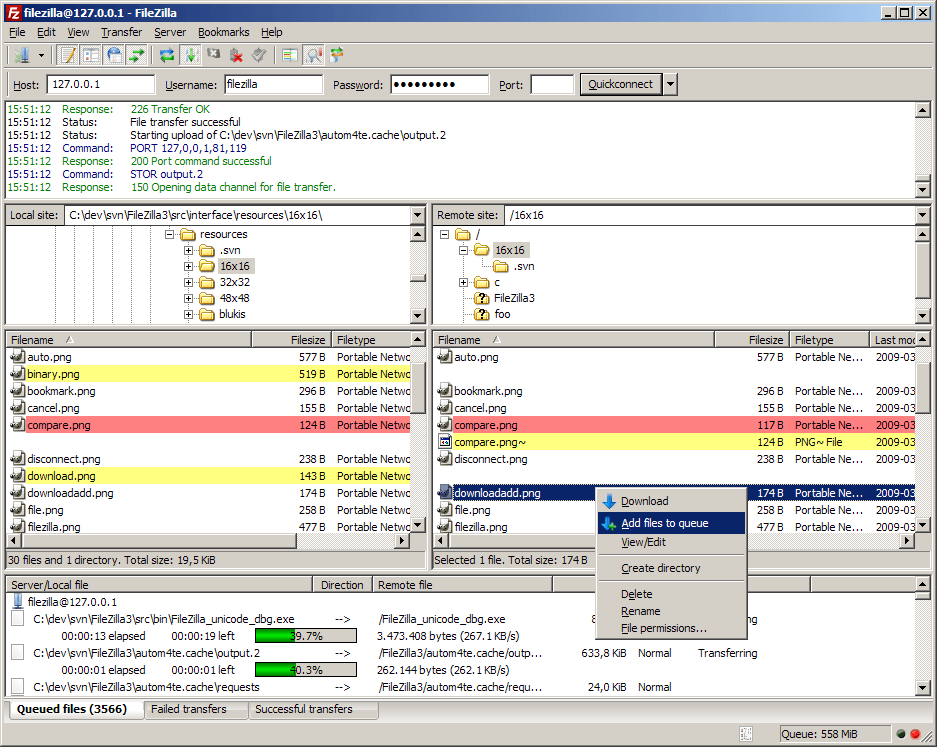 Media asset in full size related to 3dfxzone.it news item entitled as follows: FTP & SFTP Tools: FileZilla Client 3.12.0 - Windows, Linux e OS X   Image Name: news22831_FileZilla-Client-Screenshot_1.png