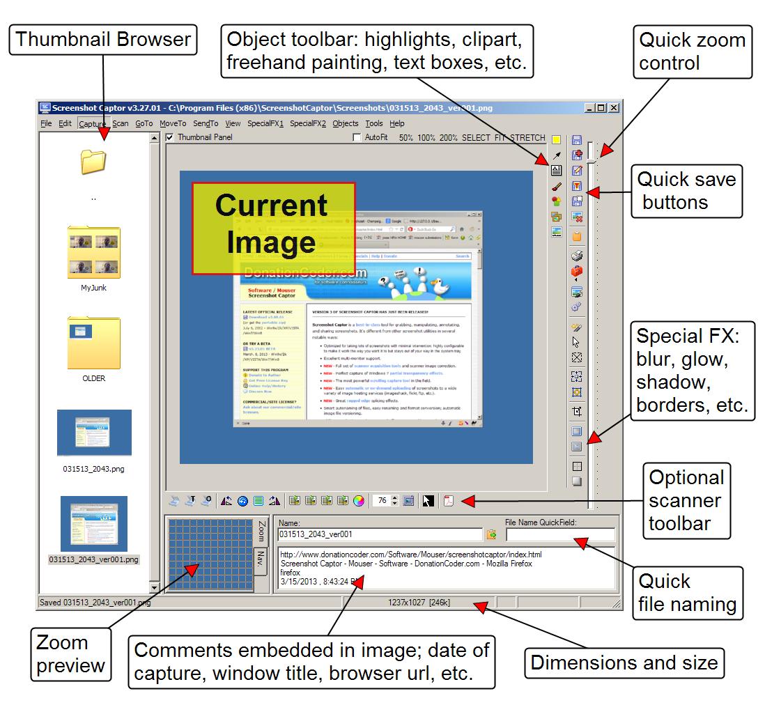 Media asset in full size related to 3dfxzone.it news item entitled as follows: Catturare gli screenshot di Windows e game con Screenshot Captor 4.16.1   Image Name: news23588_Screenshot-Captor-Screenshot_1.png