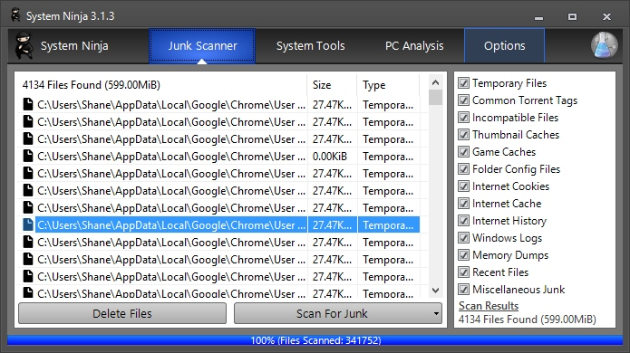 Media asset in full size related to 3dfxzone.it news item entitled as follows: System Ninja Free 3.1.3 ottimizza le prestazioni di Microsoft Windows | Image Name: news24056_System-Ninja-Screenshot_1.jpg
