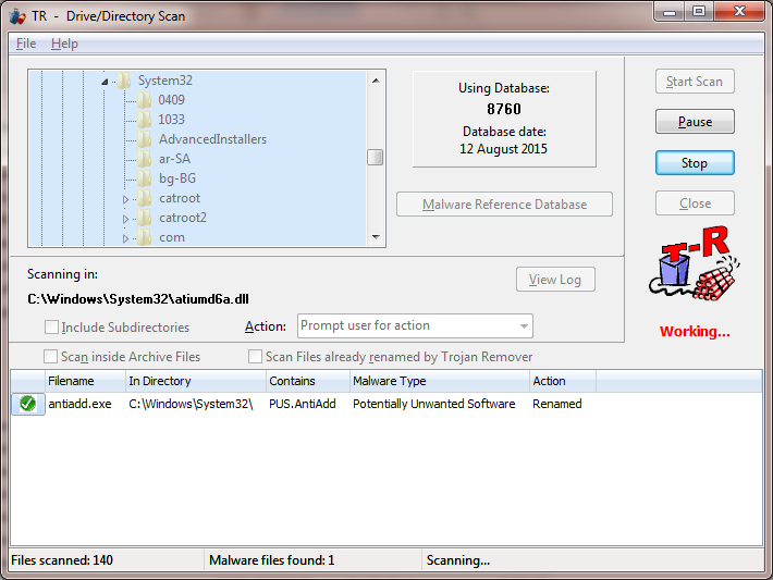 Media asset in full size related to 3dfxzone.it news item entitled as follows: AntiTrojan & AntiSpyware & AntiAdware Tools: Trojan Remover 6.9.4 | Image Name: news24129_Trojan-Remover-Screenshot_1.png