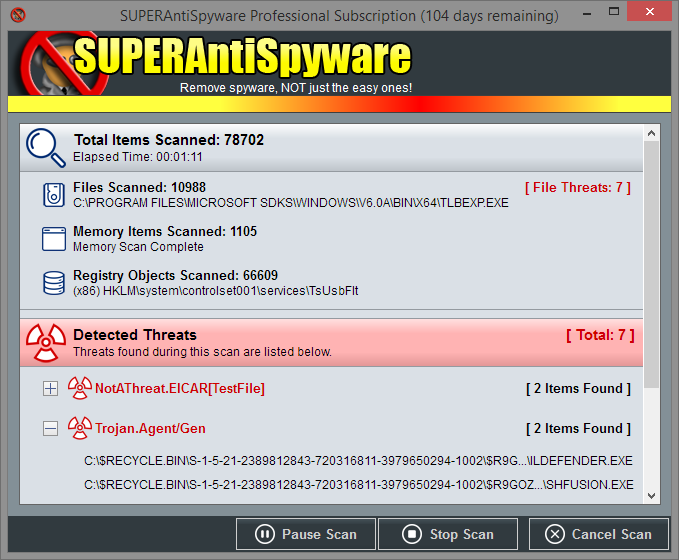 Media asset in full size related to 3dfxzone.it news item entitled as follows: Antivirus & AntiSpyware Tools: SUPERAntiSpyware Free Edition 6.0.1228 | Image Name: news25127_SUPERAntiSpyware-Screenshot_2.png