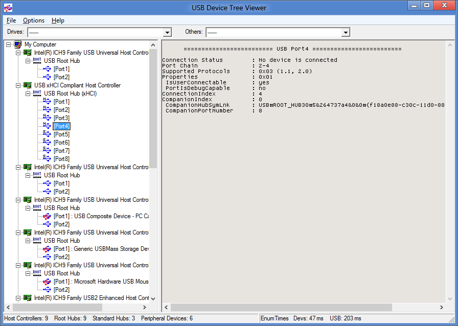 Media asset in full size related to 3dfxzone.it news item entitled as follows: System Information Utilities: USB Device Tree Viewer 3.0.8 - Windows 10 Ready | Image Name: news25548_USB-Device-Tree-Viewer_1.png
