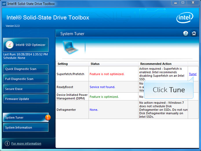 Media asset in full size related to 3dfxzone.it news item entitled as follows: Intel SSD Utilities: Intel Solid State Drive (SSD) Toolbox 3.4.6 | Image Name: news26454_Intel-Solid-State-Drive-SSD-Toolbox_2.jpeg