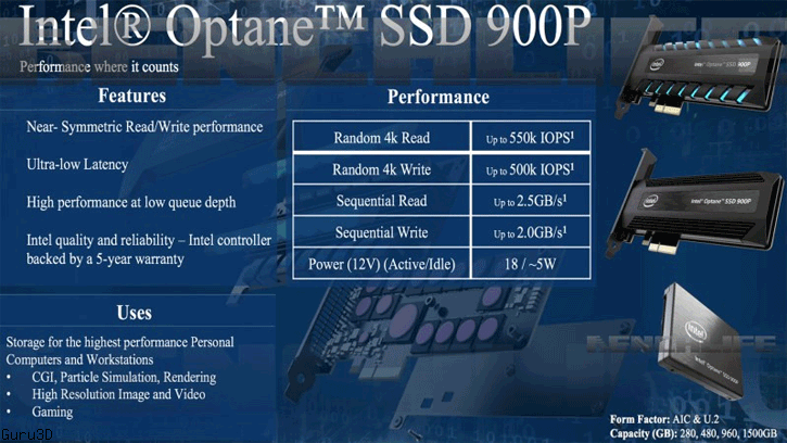 Media asset in full size related to 3dfxzone.it news item entitled as follows: Intel potrebbe lanciare i drive Optane SSD 900P nel mainstream entro fine mese   Image Name: news27188_Intel-Optane-SSD-900P_1.png
