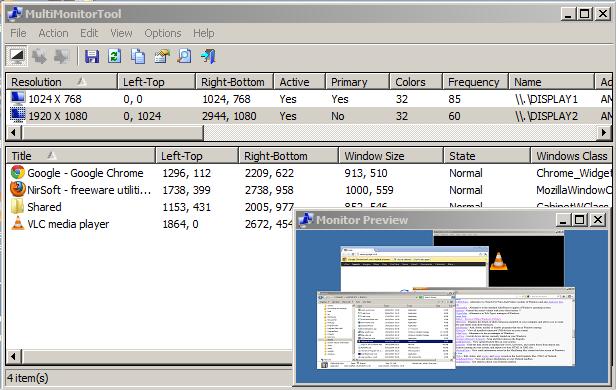 Media asset in full size related to 3dfxzone.it news item entitled as follows: Gestire le configurazioni multi-monitor con MultiMonitorTool 1.91 | Image Name: news27846_MultiMonitorTool-Screenshot_1.png