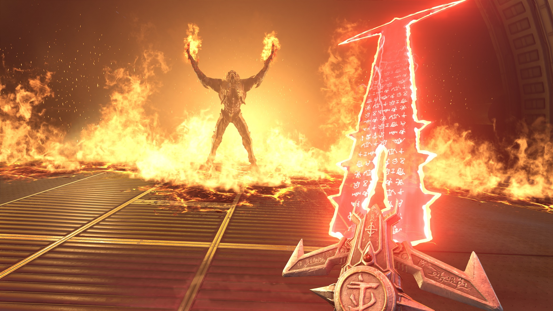 Media asset in full size related to 3dfxzone.it news item entitled as follows: Bethesda presenta il game DOOM Eternal con gameplay trailer e screenshots | Image Name: news28544_DOOM-Eternal-Screenshot_14.jpg