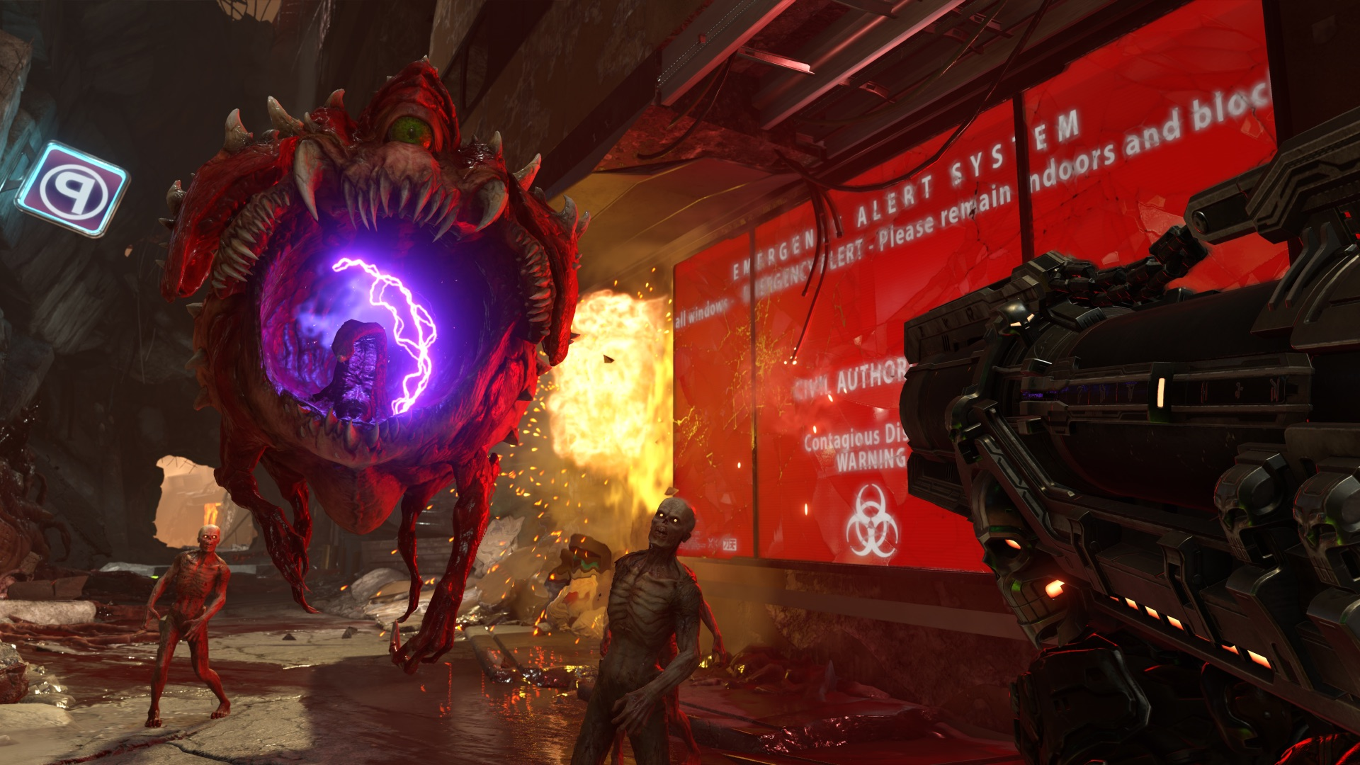 Media asset in full size related to 3dfxzone.it news item entitled as follows: Bethesda presenta il game DOOM Eternal con gameplay trailer e screenshots | Image Name: news28544_DOOM-Eternal-Screenshot_2.jpg