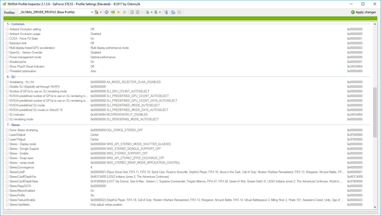GeForce Overclocking & Tuning Utilities: NVIDIA Profile Inspector