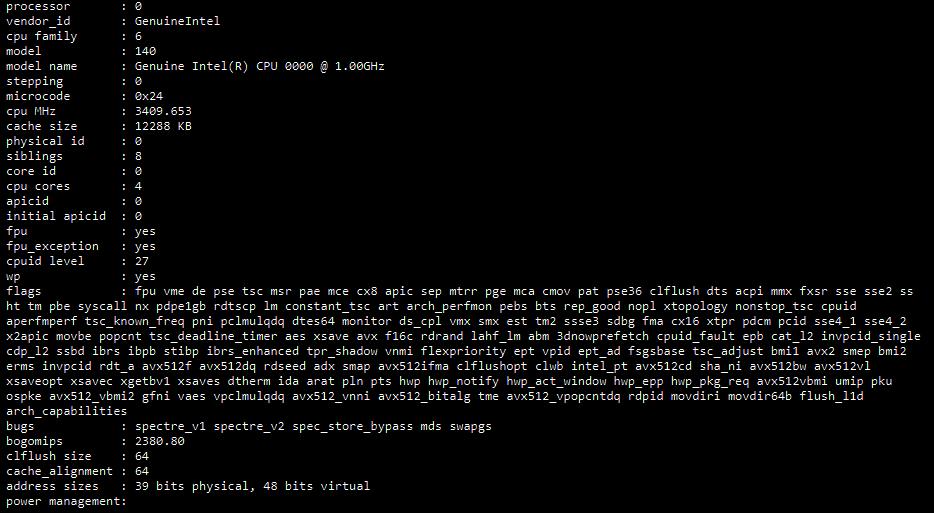 Media asset in full size related to 3dfxzone.it news item entitled as follows: Svelate le specifiche di un processore Tiger Lake-U di Intel con iGPU Gen12 | Image Name: news29992_Specifiche-Tiger-Lake-U_1.png