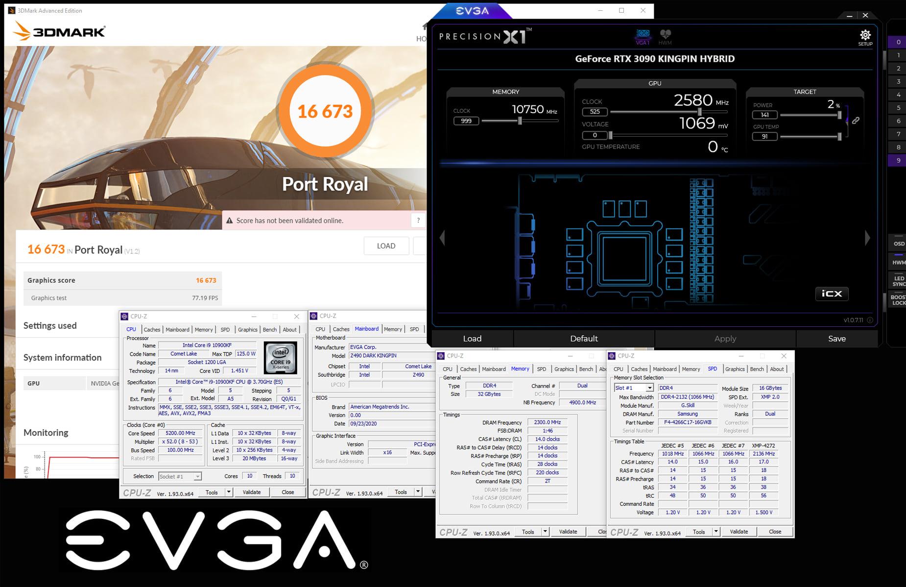Media asset in full size related to 3dfxzone.it news item entitled as follows: La EVGA GeForce RTX 3090 KINGPIN supera i 2.5GHz con azoto liquido   Image Name: news31154_EVGA-GeForce-RTX-3090-KINGPIN_2.jpg