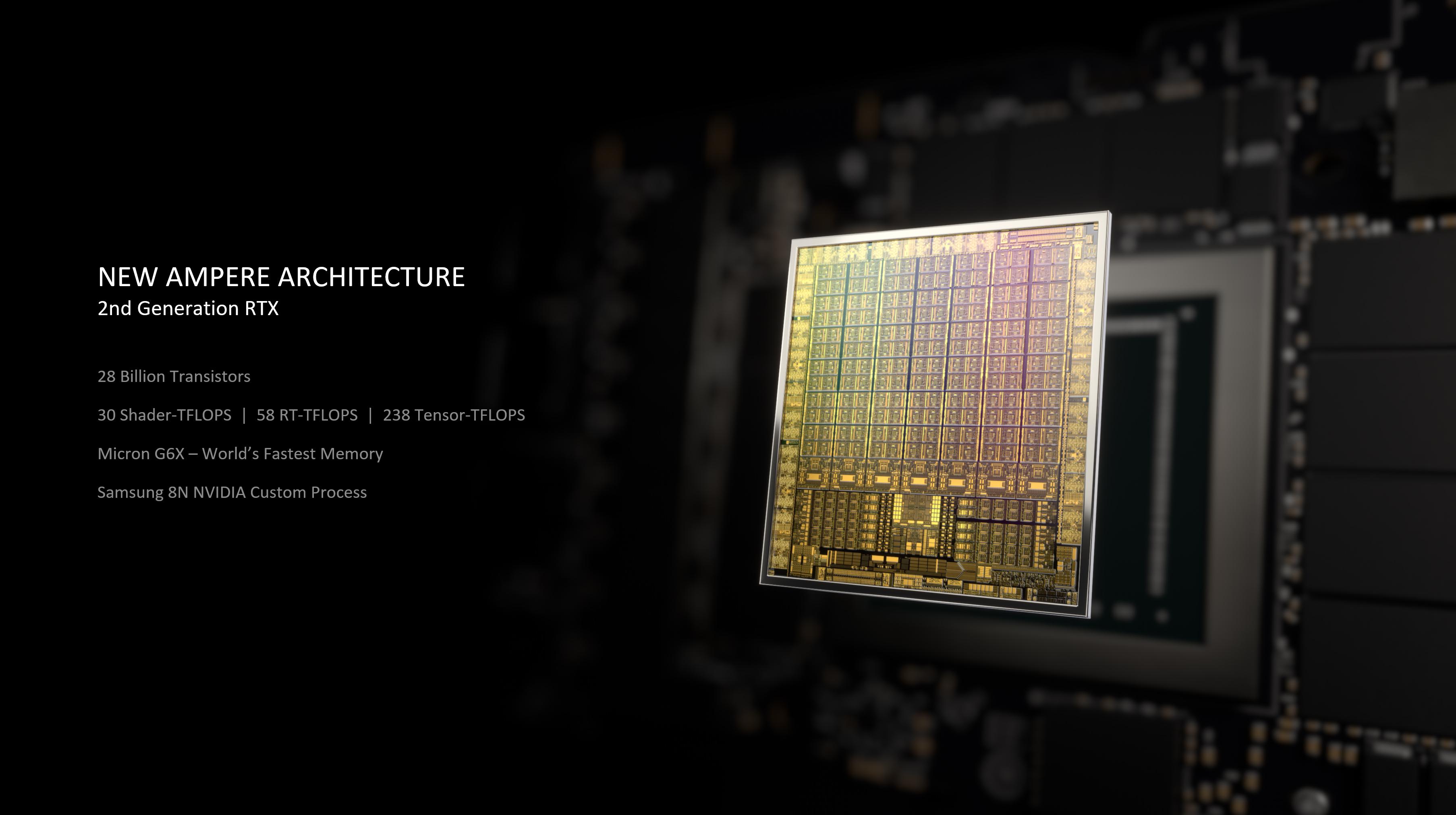 Media asset in full size related to 3dfxzone.it news item entitled as follows: In arrivo la GeForce RTX 3060 Ti per rispondere alle Radeon con GPU Big Navi | Image Name: news31164_NVIDIA-GPU-Ampere_1.jpg