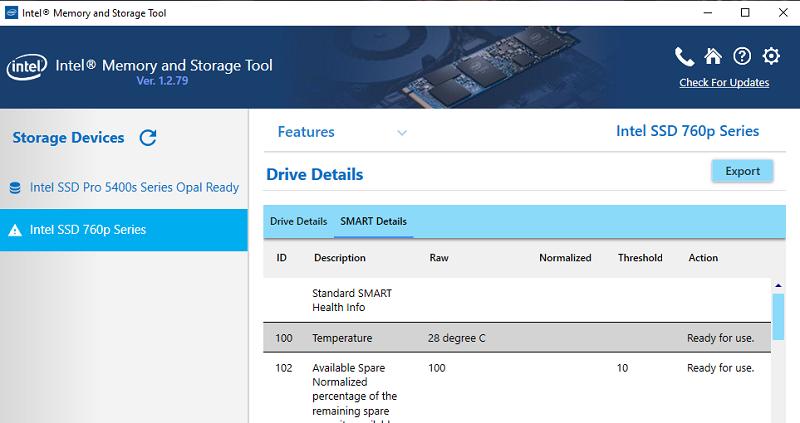 Media asset in full size related to 3dfxzone.it news item entitled as follows: Intel Optane & SSD Tools: Intel Memory and Storage Tool (Intel MAS) 1.4 | Image Name: news31394_Intel-Memory-and-Storage-Tool_2.png