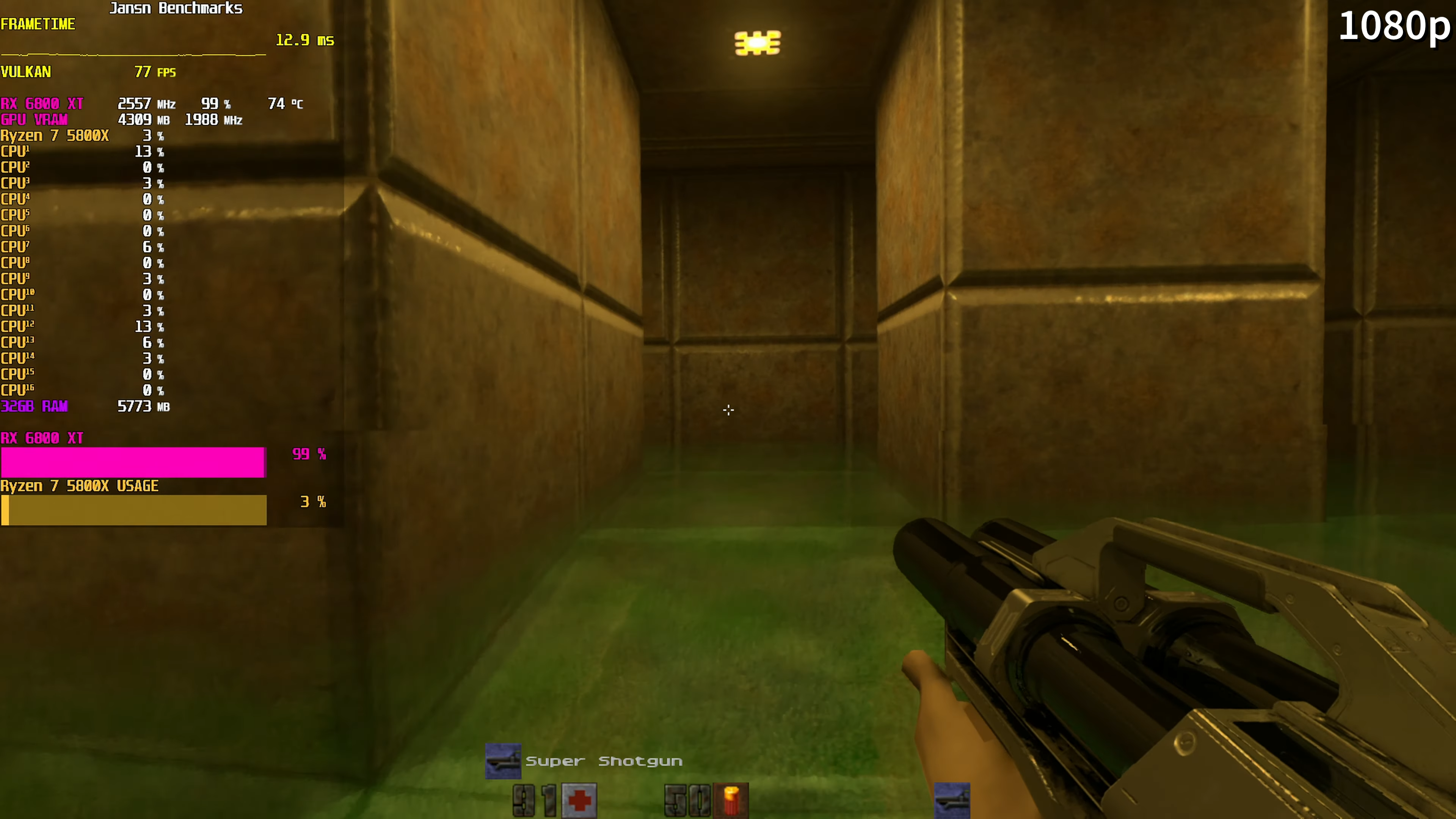 Media asset in full size related to 3dfxzone.it news item entitled as follows: Quake II RTX 1.4.0 supporta il ray tracing con le GPU AMD Radeon RX 6000 | Image Name: news31458_Quake-II-RTX-Radeon-RX-6800-XT_3.png