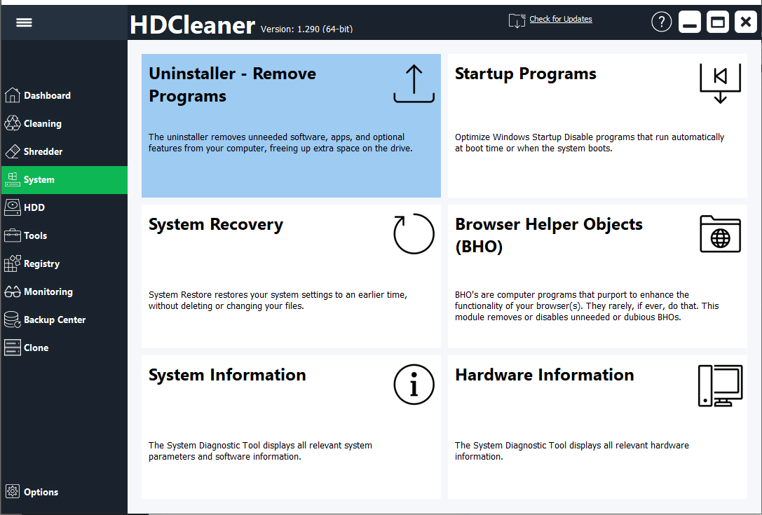 Media asset in full size related to 3dfxzone.it news item entitled as follows: HDCleaner 1.325 ripulisce drive di storage e registro di configurazione   Image Name: news31568_HDCleaner-Screenshot_2.png