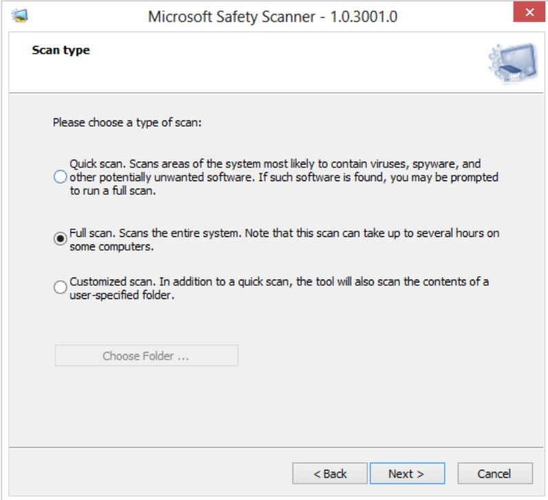 Media asset in full size related to 3dfxzone.it news item entitled as follows: Microsoft Safety Scanner 1.0.3001.0 rimuove virus e malware on demand | Image Name: news31660_Microsoft-Safety-Scanner_1.jpg