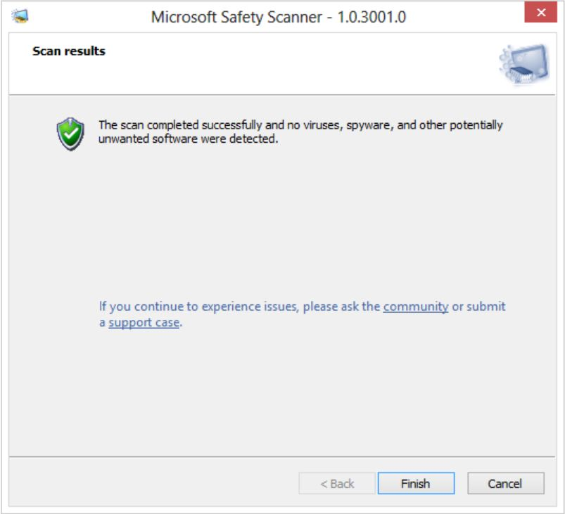 Media asset in full size related to 3dfxzone.it news item entitled as follows: Microsoft Safety Scanner 1.0.3001.0 rimuove virus e malware on demand   Image Name: news31660_Microsoft-Safety-Scanner_2.jpg