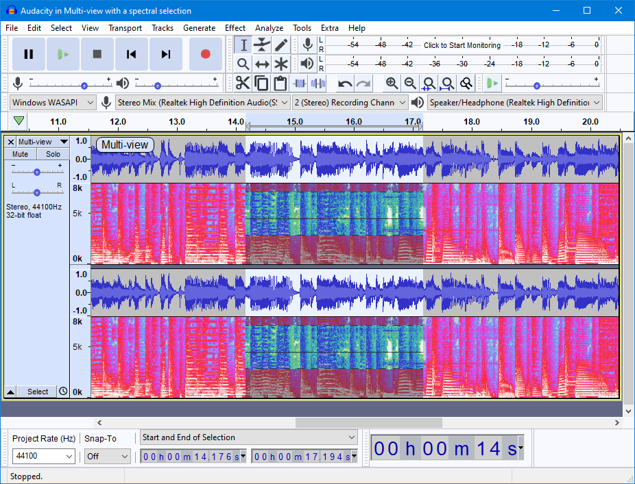 Media asset in full size related to 3dfxzone.it news item entitled as follows: Open Source Multi-track Audio Editing & Recording: Audacity 3.0.0 | Image Name: news31816_Audacity-Screenshot_1.png