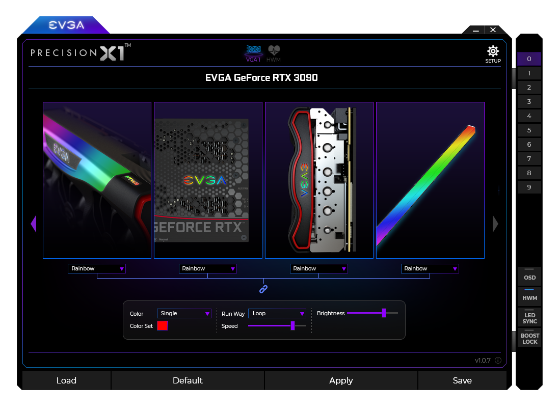 Media asset in full size related to 3dfxzone.it news item entitled as follows: NVIDIA Geforce Monitoring & Tuning Utilities: EVGA Precision X1 1.1.9.0 | Image Name: news31912_EVGA-Precision-X1-Screenshot_3.png