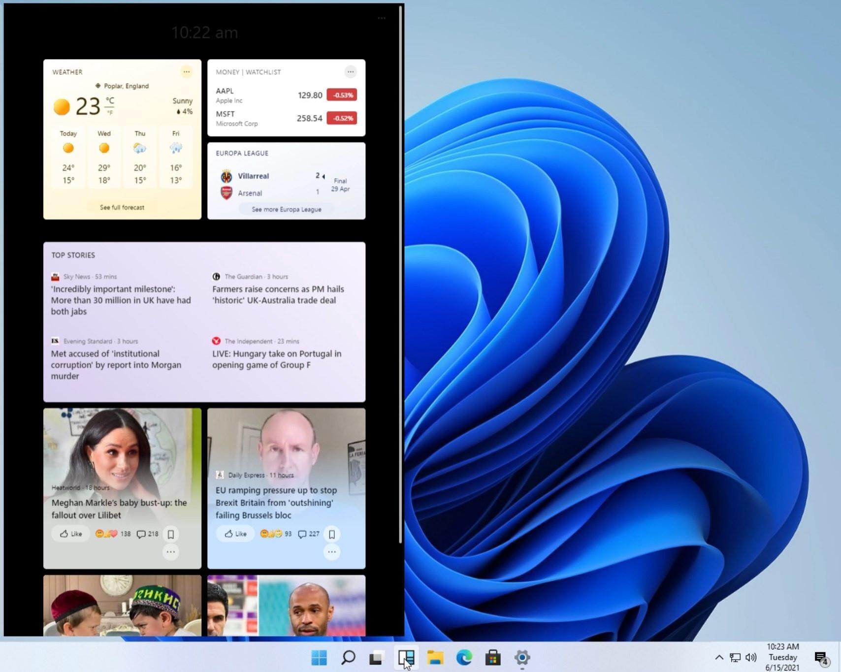 Media asset in full size related to 3dfxzone.it news item entitled as follows: Già on line gli screenshots del nuovo Sistema Operativo Windows 11 di Microsoft | Image Name: news32168_Microsoft-Windows-11-Screenshot_2.jpg